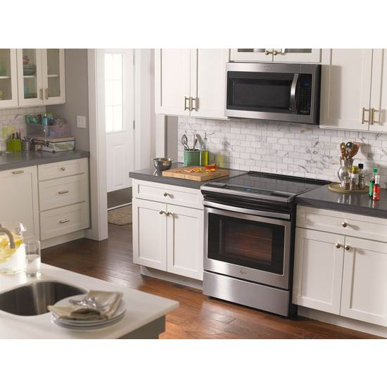 Model: WEE510S0FS | Whirlpool 4.8 cu. ft. Guided Electric Front Control Range With The Easy-Wipe Ceramic Glass Cooktop