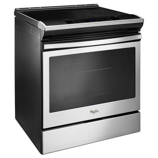 Model: WEE510SAGS | Whirlpool 4.8 cu. ft. Guided Electric Front Control Range With The Easy-Wipe Ceramic Glass Cooktop