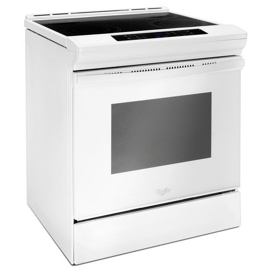 Model: WEE510SAGW | Whirlpool 4.8 cu. ft. Guided Electric Front Control Range With The Easy-Wipe Ceramic Glass Cooktop