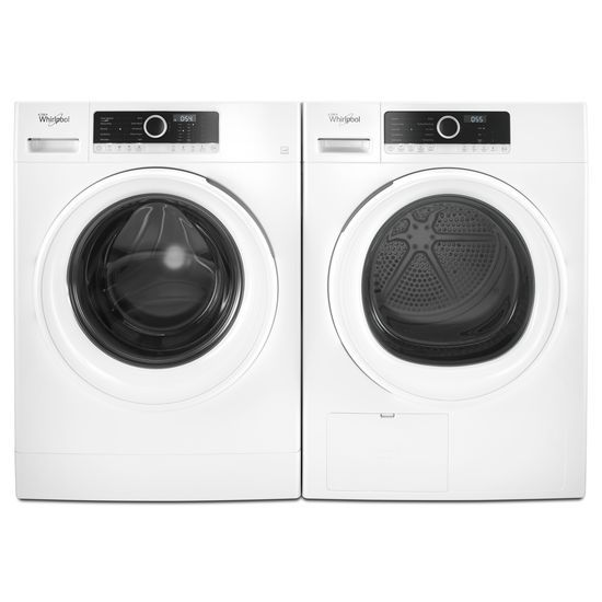 """Model: WFW3090JW   Whirlpool 1.9 cu. ft. 24"""" Compact Washer with Detergent Dosing Aid option"""