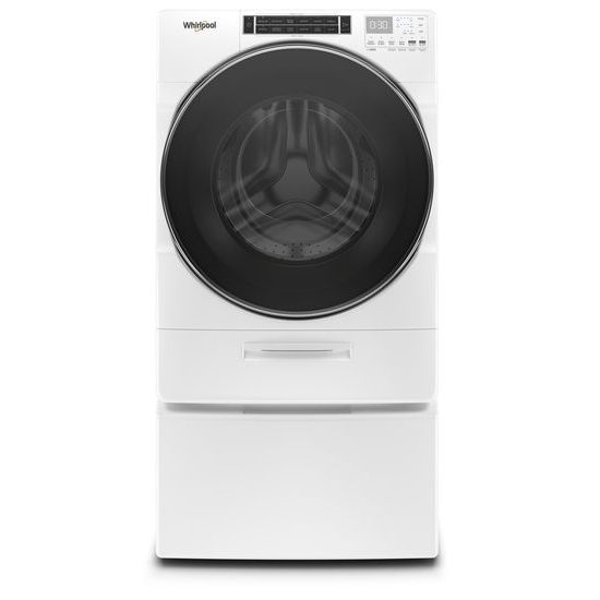 Model: WFW8620HW   Whirlpool 5.0 cu. ft. Front Load Washer with Load & Go™ XL Dispenser