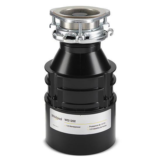 Model: WG1202XH | Whirlpool 1/2 HP In-Sink Disposer