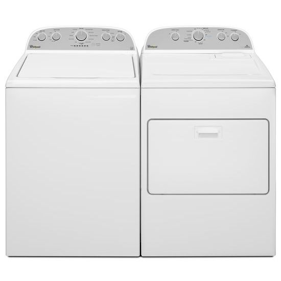 Model: WGD49STBW | Whirlpool 7.0 cu.ft Top Load Gas Dryer with AccuDry™, Steam Refresh
