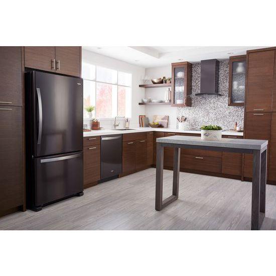 Model: WRB322DMHV | Whirlpool 33-inch wide Bottom-Freezer Refrigerator - 22 cu. ft.