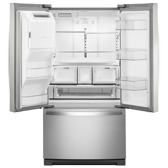 Model: WRF757SDHZ | Whirlpool 36-inch Wide French Door Refrigerator - 27 cu. ft.