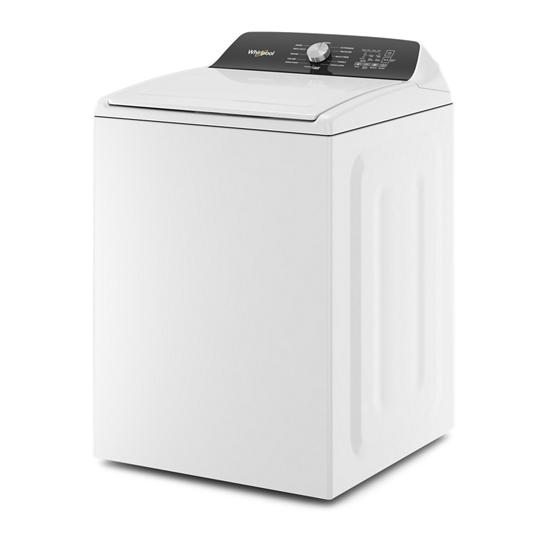 Model: WTW5010LW   Whirlpool 4.6 Cu. Ft. Top Load Impeller Washer with Built-in Faucet