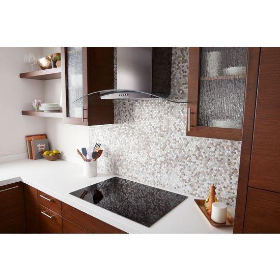 "Model: WVW51UC0HV   Unbranded 30"" Concave Glass Wall Mount Range Hood"