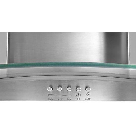 "Model: WVW51UC6FS   Unbranded 36"" Concave Glass Wall Mount Range Hood"