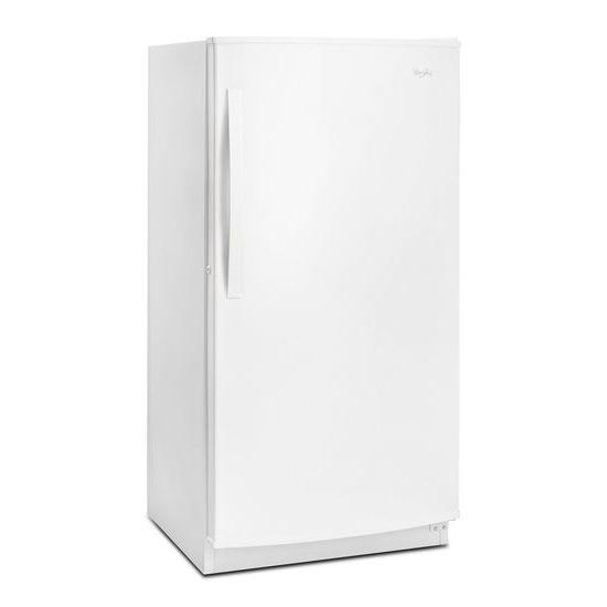 Model: WZF56R16DW   Whirlpool 16 cu. ft. Upright Freezer with Frost-Free Defrost