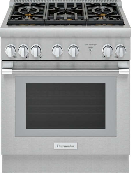 Thermador Dual Fuel Professional Range 30'' Pro Harmony® Standard Depth Stainless Steel