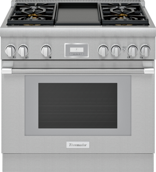 Thermador Dual Fuel Professional Range 36'' Pro Harmony® Standard Depth Stainless Steel