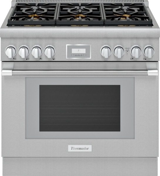 Thermador Gas Professional Range 36'' Pro Harmony® Standard Depth Stainless Steel