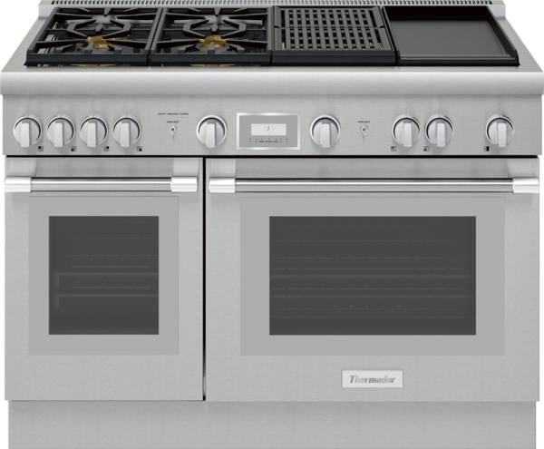 Thermador 48-INCH DUAL-FUEL PRO HARMONY ® RANGE WITH  GRIDDLE AND GRILL
