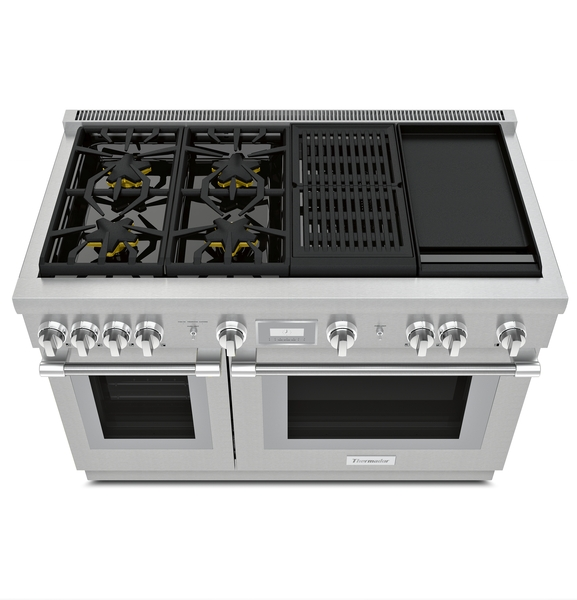 Model: PRD484WCHU | Thermador 48-INCH DUAL-FUEL PRO HARMONY ® RANGE WITH  GRIDDLE AND GRILL