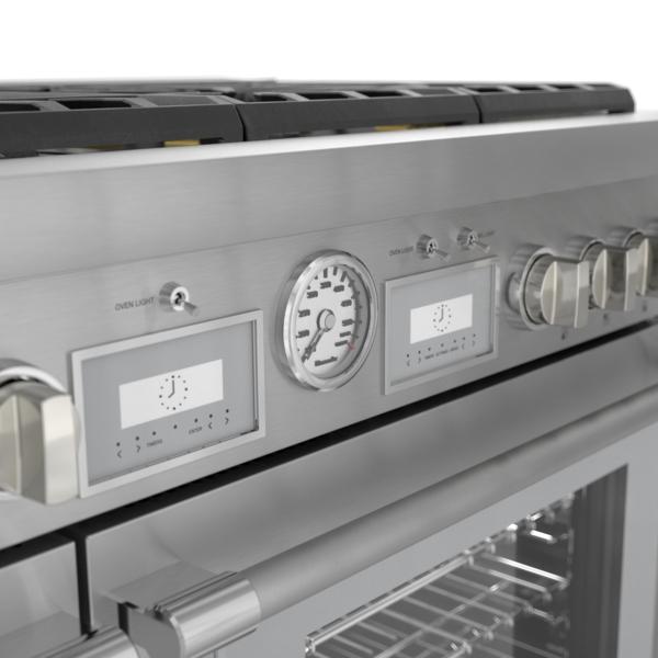 Model: PRD486WIGU   Thermador Dual Fuel Professional Range 48'' Pro Grand® Commercial Depth
