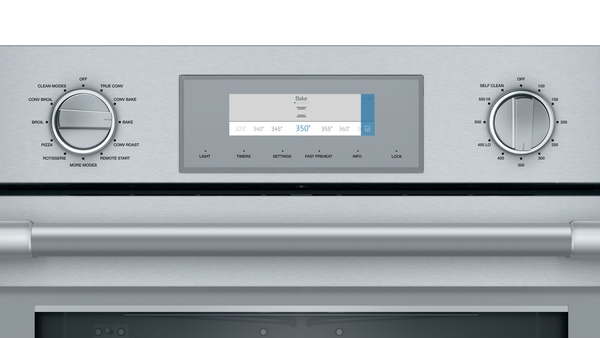 Model: PODMCW31W | Thermador Triple Speed Oven 30'' Stainless Steel