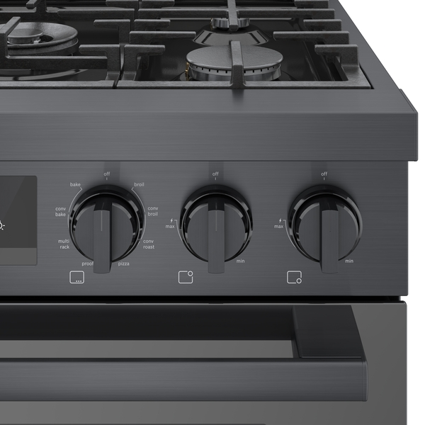"Model: HDS8045U | Bosch 800 Series Industrial Style Dual Fuel Freestanding  30"" Range"
