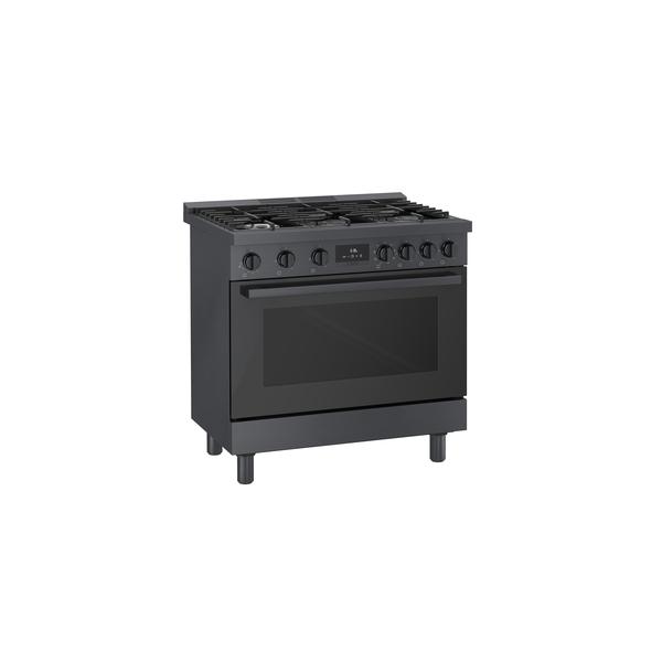 Model: HDS8645U | Bosch 800 Series Industrial Style Dual Fuel Freestanding Range 36''