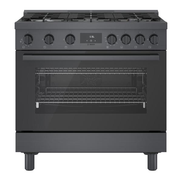 Bosch 800 Series Gas Freestanding Range 36'' Black Stainless Steel