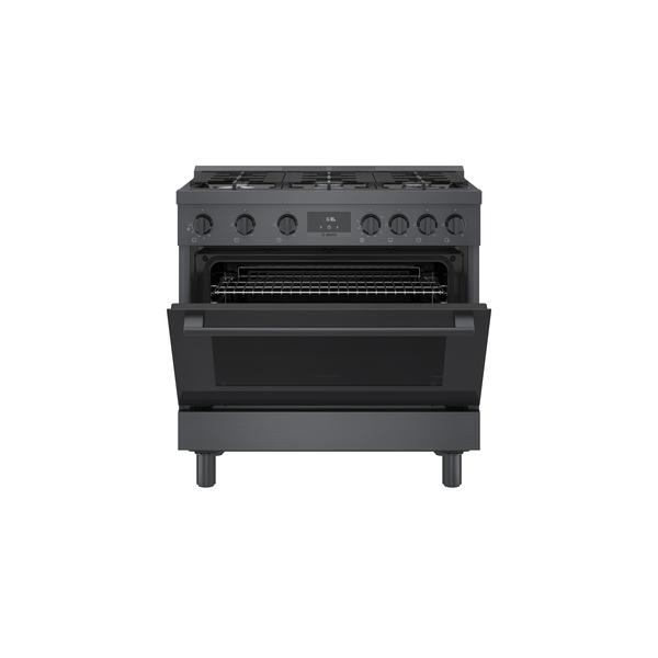 Model: HGS8645UC | Bosch 800 Series Gas Freestanding Range 36'' Black Stainless Steel