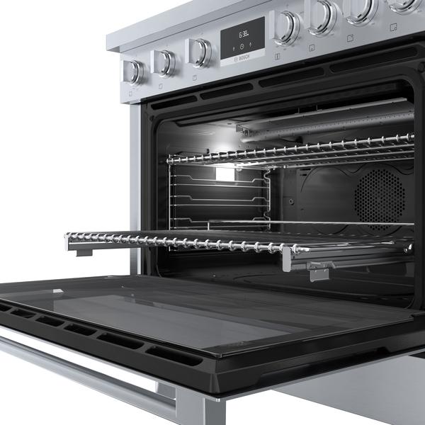 Model: HGS8655UC | Bosch 800 Series Industrial Style Gas Freestanding Range 36''