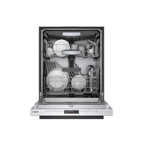 "Model: SHP878ZD5N | Bosch 800 Series DLX 24"" Pocket Handle Dishwasher"