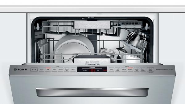 """Model: SHP88PZ55N   Bosch Benchmark Series 24"""" Pocket Handle Dishwasher"""