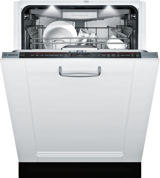 "Model: SHV89PW73N | Bosch Benchmark Series 24"" Custom Panel Dishwasher"