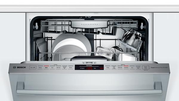 "Model: SHXM88Z75N | Bosch 800 Series 24"" Bar Handle Dishwasher"