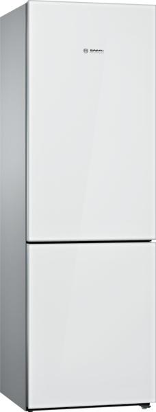 Bosch 800 Series Free-standing fridge-freezer with freezer at bottom, glass door