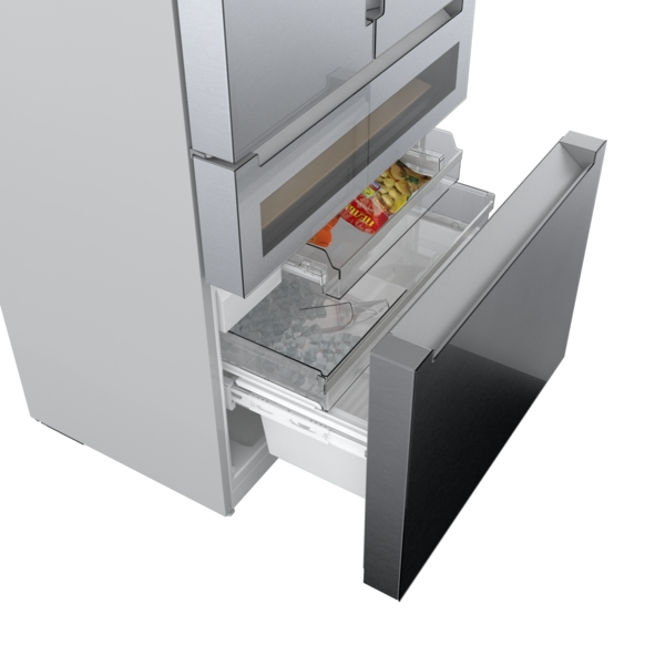 Model: B36CL81ENG | Bosch 800 Series French Door Bottom Mount Refrigerator 36'' Easy clean