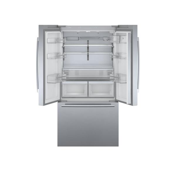 "Model: B36CT80SNS | Bosch 800 Series 36"" Counter-Depth French Door Bottom Mount Refrigerator"