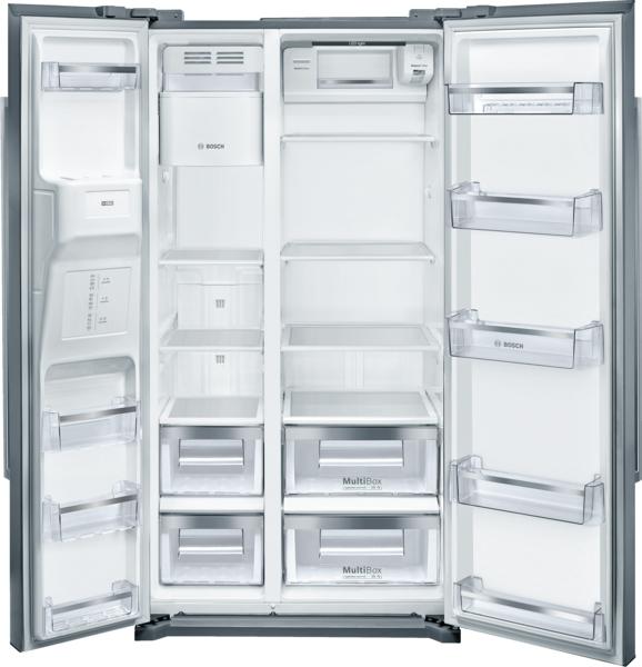 "Model: B20CS30SNS | Bosch 300 Series Freestanding Counter-Depth Side-by-Side 36"" Refrigerator"