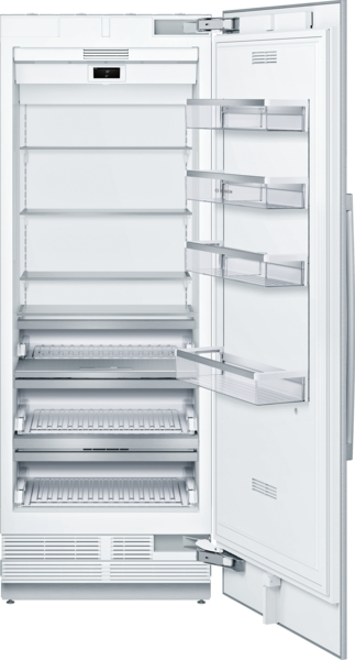 Model: B30IR905SP   Bosch Benchmark® Built-in Custom Panel Single  Door Refrigerator 30''
