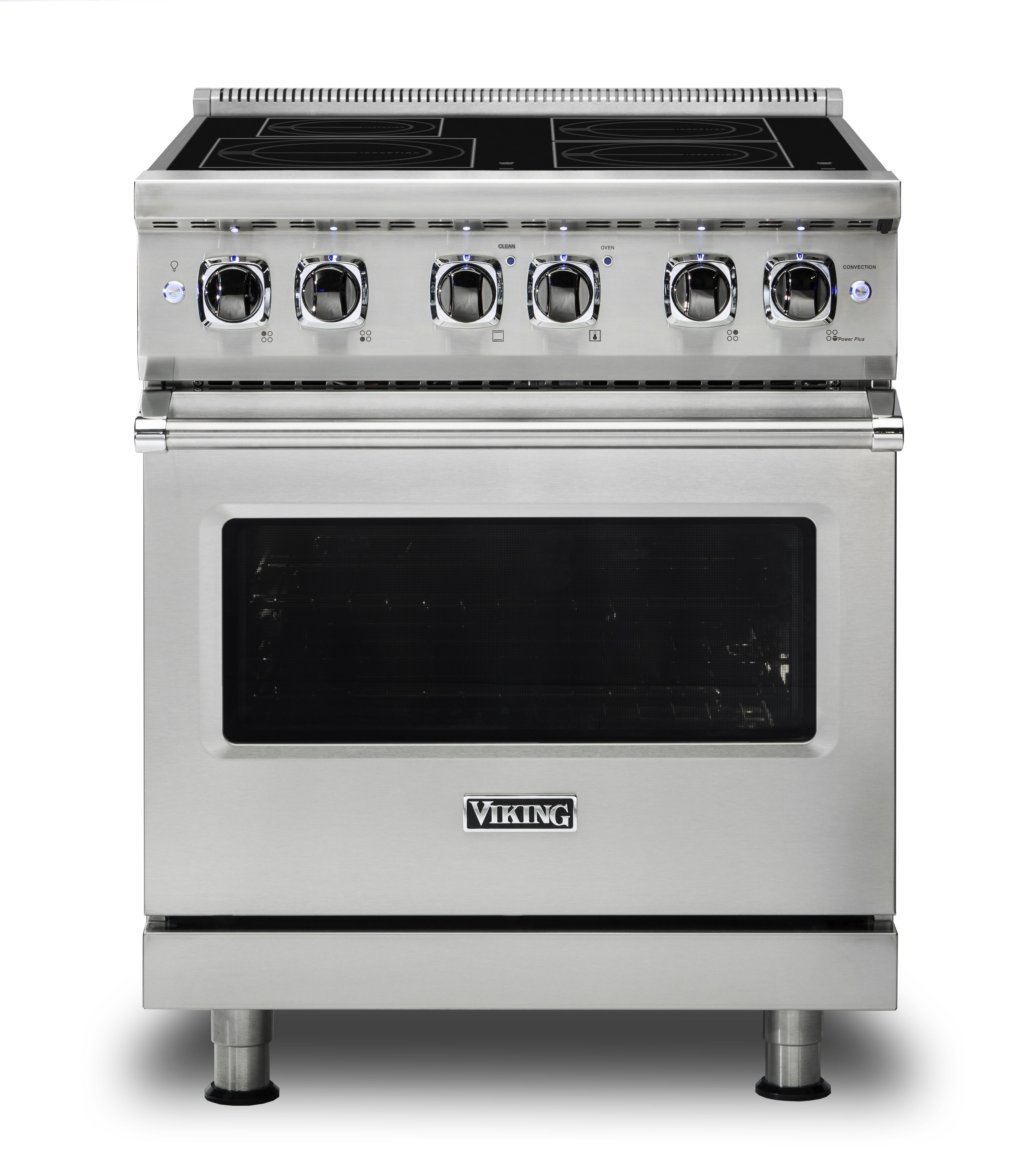 "Model: VIR53014BSS | Viking 30""W./24""D. Induction Self-Clean Range-4 Burners-Stainless"