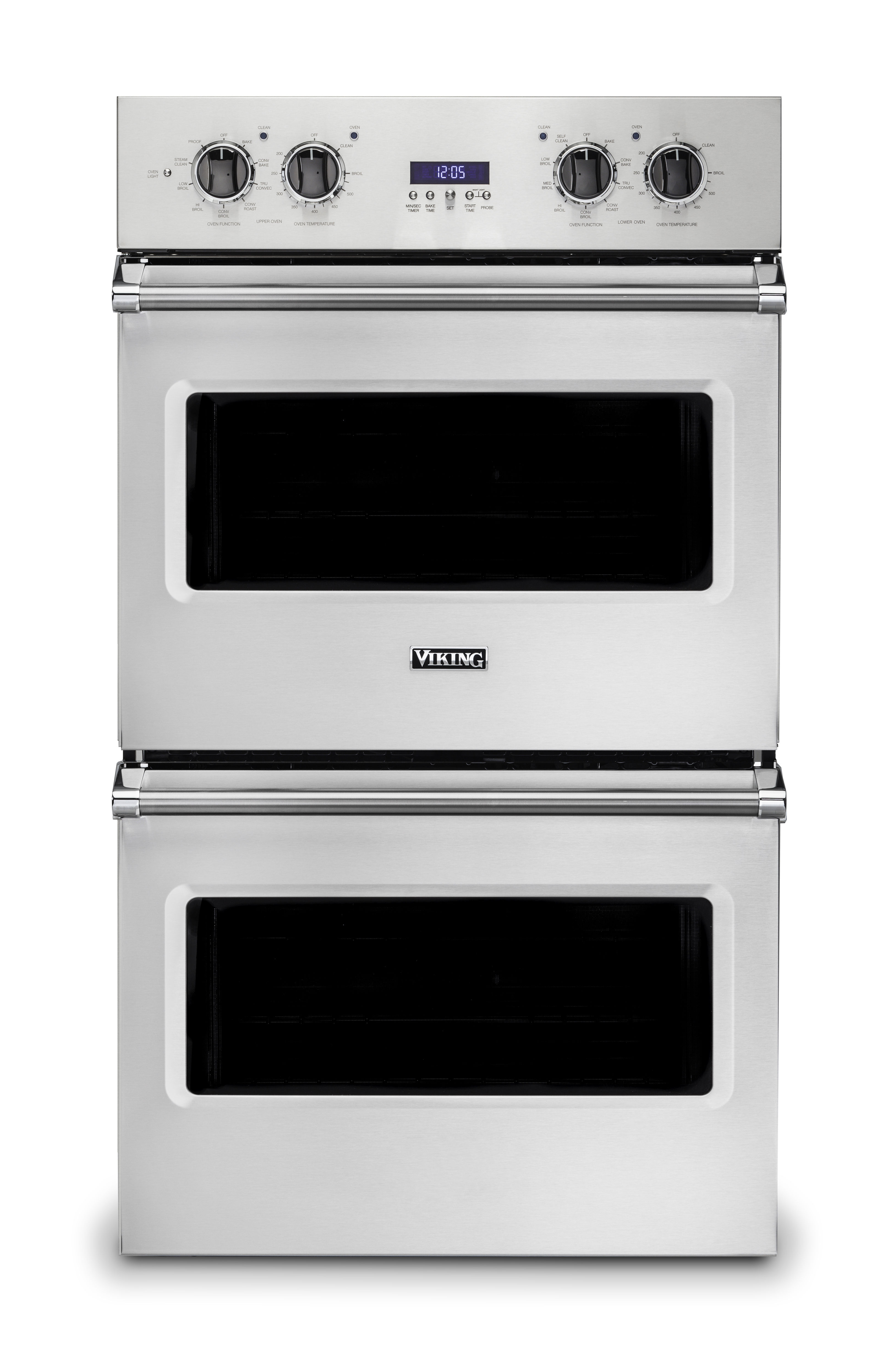 """Viking 30""""W. Electric Double Thermal Convection Oven-Stainless"""