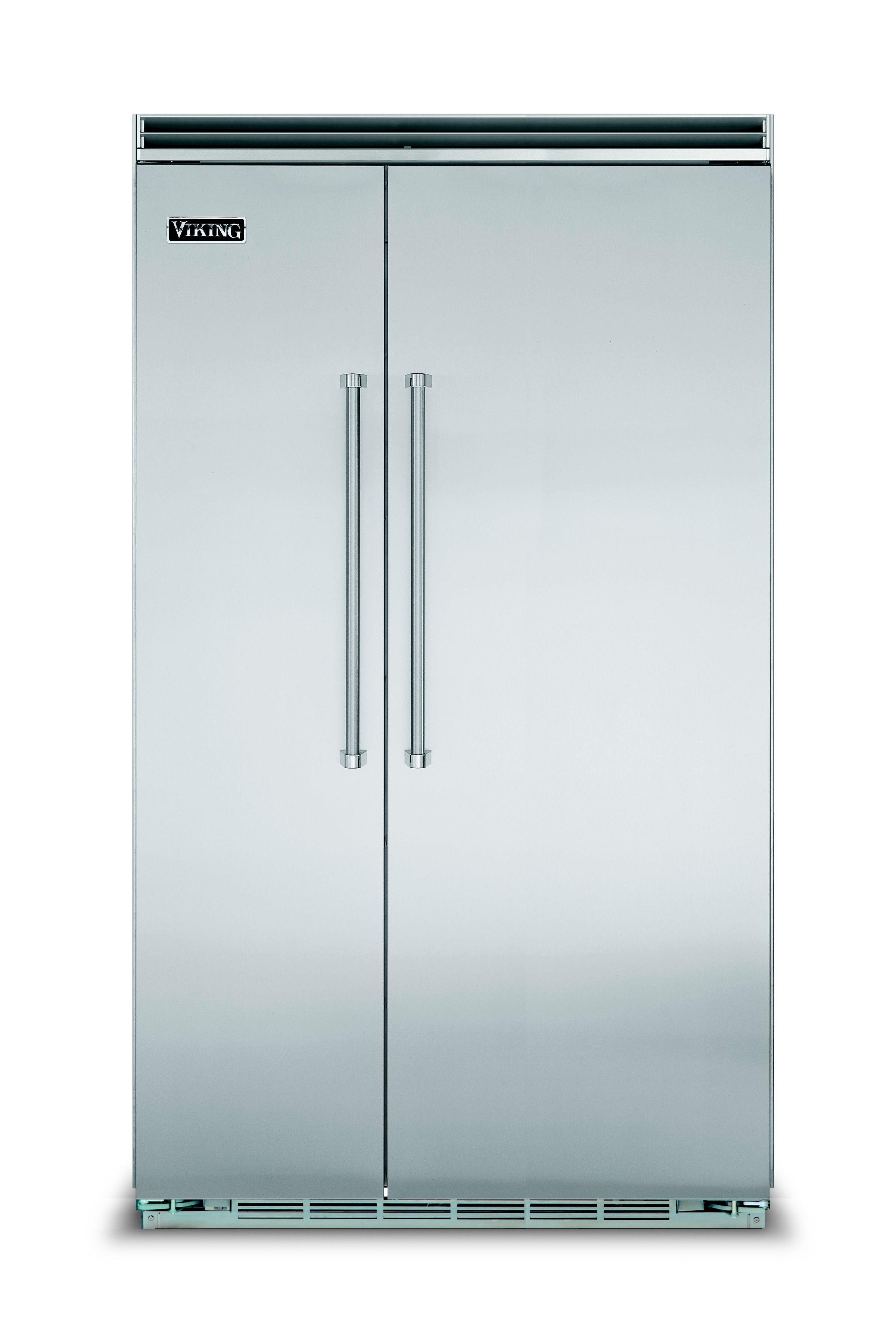 "Viking 48""W. BI Side-by-Side Refrigerator/Freezer-Stainless"