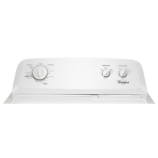 Model: WED4616FW | Whirlpool 7.0 cu.ft Top Load Electric Dryer with Wrinkle Shield™