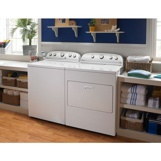 Model: WED5000DW | Whirlpool 7.0 cu.ft Top Load Electric Dryer with Wrinkle Shield™ Plus