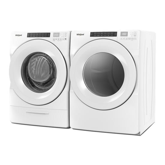 Model: WED5620HW | Whirlpool 7.4 cu. ft. Front Load Electric Dryer with Intuitive Touch Controls