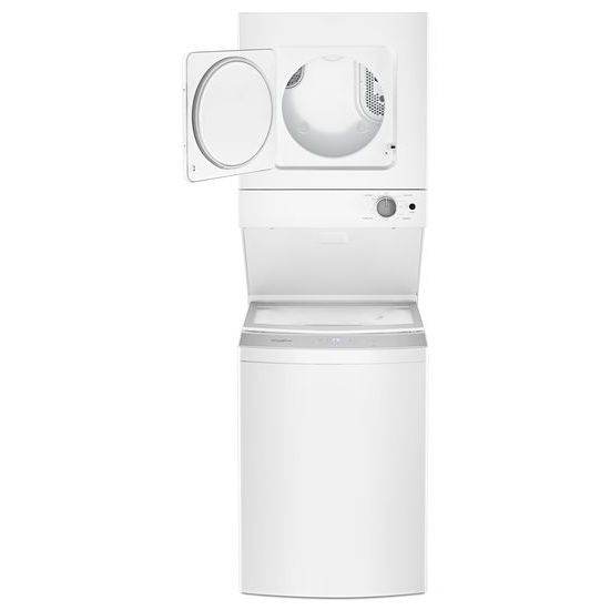 Model: WET4024HW | Whirlpool 1.6 cu.ft Electric Stacked Laundry Center 6 Wash cycles and AutoDry™