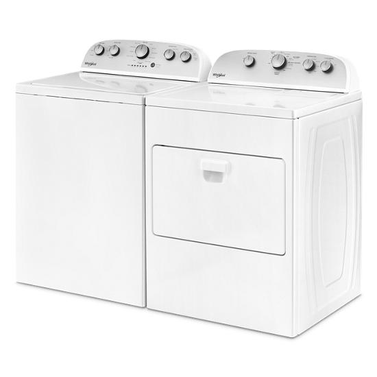 Model: WGD5000DW   Whirlpool 7.0 cu.ft Top Load Gas Dryer with Wrinkle Shield™ Plus