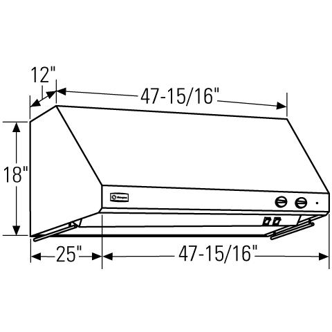"Model: ZV48RSFSS | Monogram Monogram 48"" Stainless Steel Professional Hood"