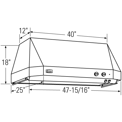 "Model: ZV48TSFSS | Monogram Monogram 48"" Stainless Steel Professional Hood"