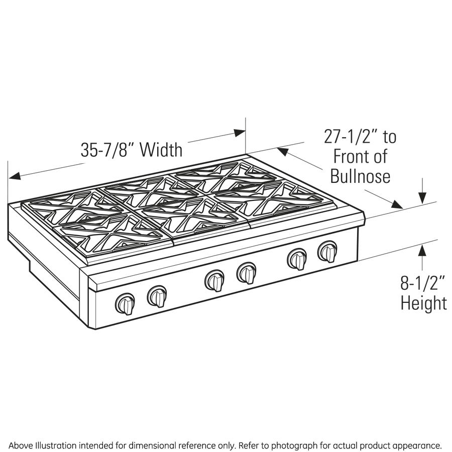 "Model: ZGU366NPSS | Monogram Monogram 36"" Professional Gas Rangetop with 6 Burners (Natural Gas)"