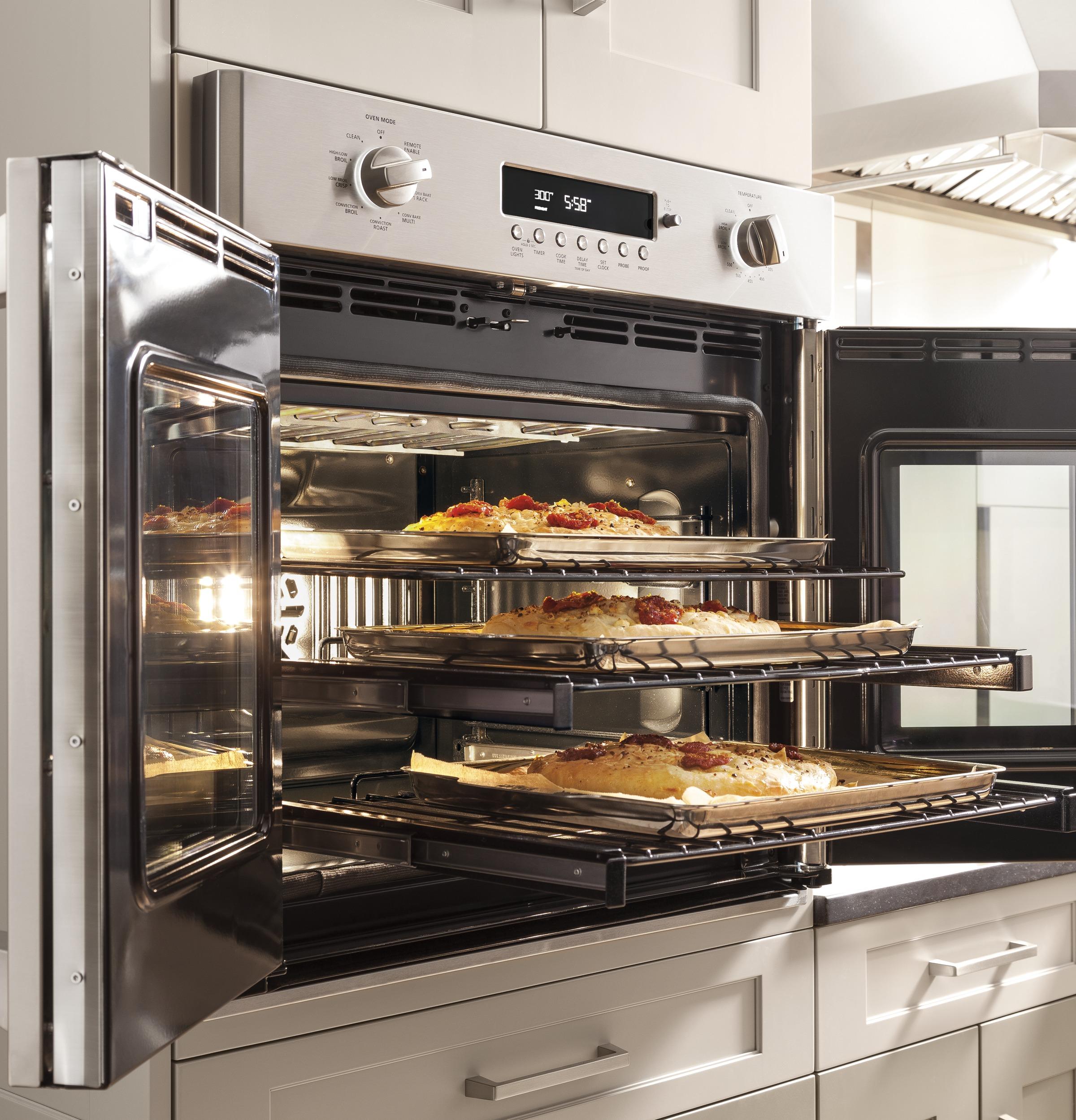 "Model: ZET1FHSS | Monogram Monogram 30"" Professional French-Door Electronic Convection Single Wall Oven"