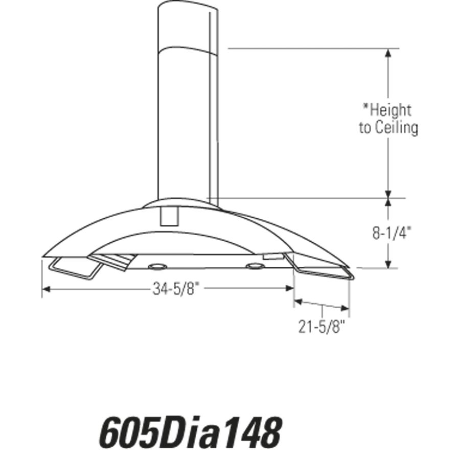 "Model: ZV750SPSS | Monogram Monogram 36"" Wall-Mounted Vent Hood"