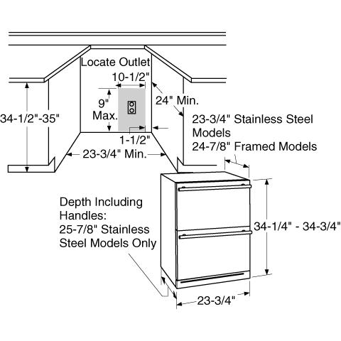 Model: ZIDS240HSS | Monogram Monogram Double-Drawer Refrigerator Module
