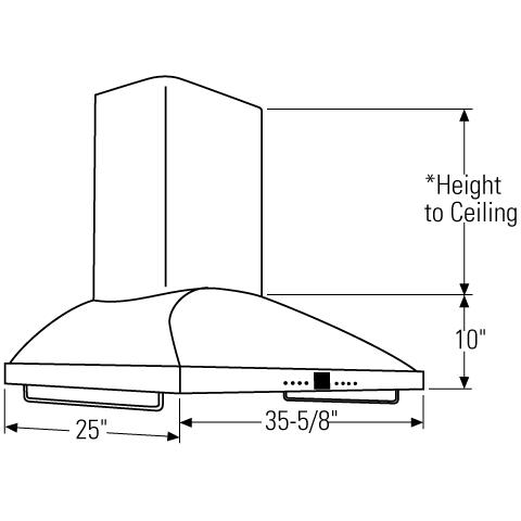 "Model: ZV950SDSS | Monogram Monogram 36"" Wall-Mounted Vent Hood"