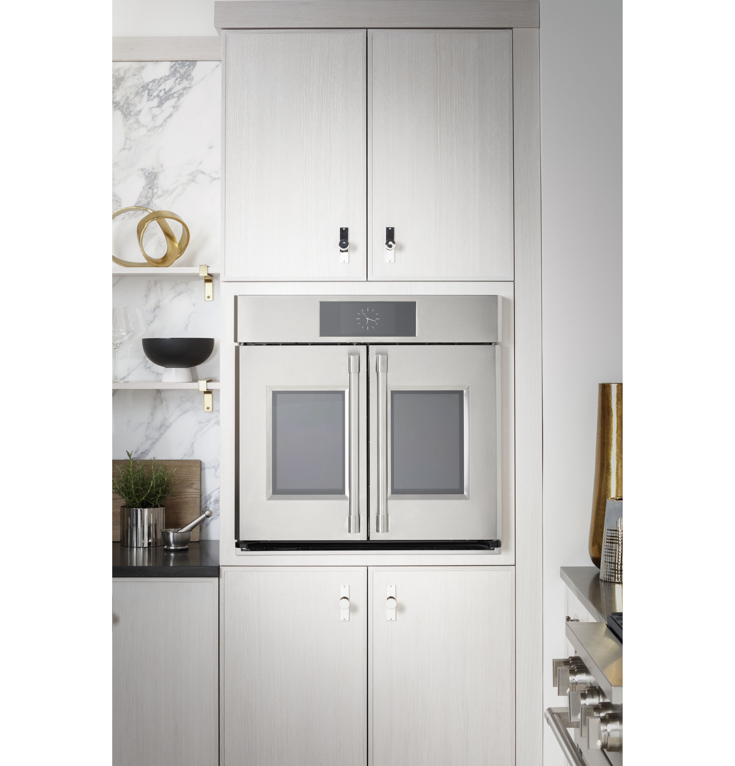 """Model: ZTDX1FPSNSS   Monogram Monogram 30"""" Smart French-Door Electric Convection Double Wall Oven Statement Collection"""